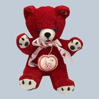 Vintage New With Tags Animal Toys Plus Inc. Valentine Plush I Love You Teddy Bear