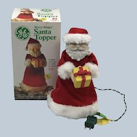 Vintage 1970's General Electric Merry Midget Santa Topper
