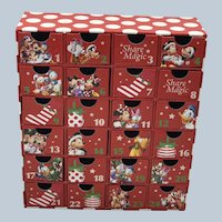 Vintage The Disney Store Exclusive Christmas Advent Drawers