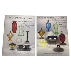 Great American Glass Of The Roaring 20's & Depression Era Book 1 and 2