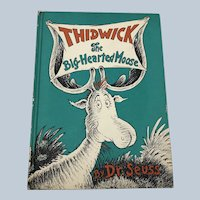 Vintage 1948 Random House Dr. Suess Thidwick The Big Hearted Moose Book Club Edition Hardcover Children Book