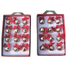 Vintage 1997 Criterion Bell & Specialty Co. Brass Christmas Jingle Bells New Old Stock 2 Sets