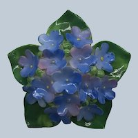 Vintage Cara China Staffordshire Porcelain Flower Bouquet Pin