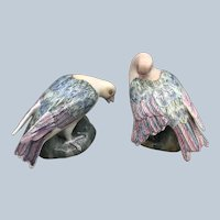 Vintage WBI China Dove Bird Figurine Set In Pastels
