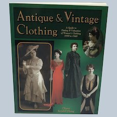 Antique & Vintage Clothing Paperback Collector Books Price Guide