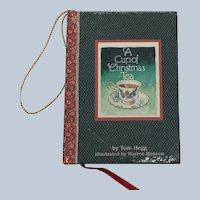Vintage 1982 A Cup Of Christmas Tea Miniature Book Ornament