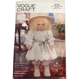 Vintage 1991 Vogue Craft Linda Carr Doll Pattern