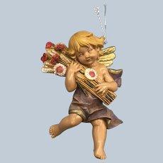 1990 Fontanini Italy Depose E. Simonelli Angel Autumn Christmas Ornament