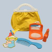 Vintage 1982 Fisher Price My Little Purse W/ Original Contents Number Toy #128