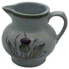Vintage Buchan Scotland Stoneware Pitcher Thistle Pattern Numbered 61/28