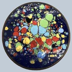 Vintage Colorful Enamel Over Copper Pin