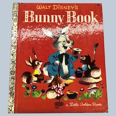 Vintage 1969 Walt Disney's Bunny Book Little Golden Book