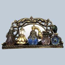 Rare Vintage Sweet Romance Shelly Cooper Designs Miniature Perfume Mirror Vanity Pin
