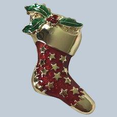 Vintage Danecraft Christmas Stocking Pin