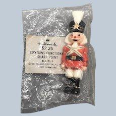 Vintage 1982 Hallmark Christmas Nutcracker Lapel Pin NOS