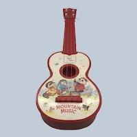 Vintage 1982 Ohio Art Plastic Shirt Tales Toy Childs Guitar