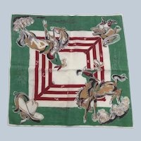 Vintage Rodeo Cotton Handkerchief