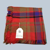Vintage The Specialty House Plaid Scarf NOS