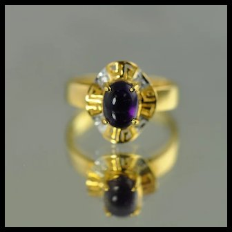 Amethyst Fashion Ring / 18k Yellow Gold