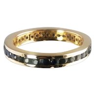 Sapphire Band / 14k Yellow Gold Vintage Eternity Band