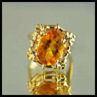 Citrine Fashion Ring / 14k Yellow Gold