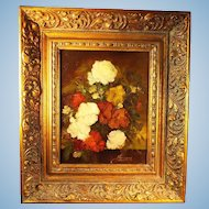 Vintage Oil Painting on Board by Garossa