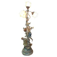 French Moreau Collection Francaise Figural Table Lamp