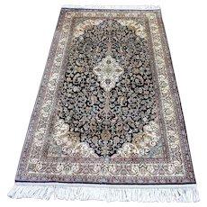 Antique Persian Super Fine Silk Rug   3' X 5'