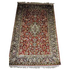 Antique Persian  Hereke Super Fine Silk Rug 4' x 6' Hand Made Turkey
