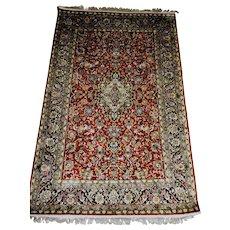 Antique Persian  Hereke Super Fine Silk Rug 4' x 6' Hand Made Turkey
