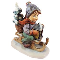 Hummel Figurine Ride into Christmas #396   1971