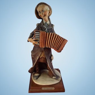G, Armani Figurine The Accordianist Capodimonte Italy