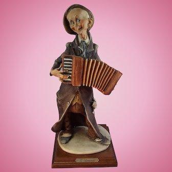 G, Armani Figurine The Accordianist Capodimonte Italy
