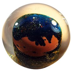 Studio Art Glass Paperweight by Gina