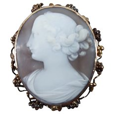 Antique Cameo C-Clasp Nicely Carved