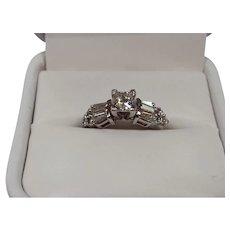 Princess Cut and Baguett Diamond Ring...Appraisal $4,100.00