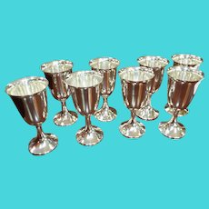 Sterling Silver Water goblets Set of eight (8)