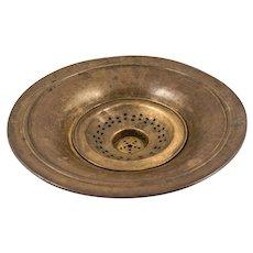 Islamic Ottoman Brass Wash Basin, 19th Century
