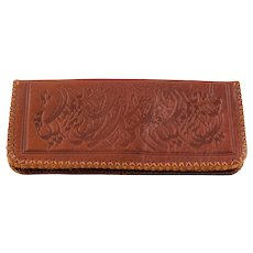 Middle East Vintage Leather Wallet with Calligraphic Decoration