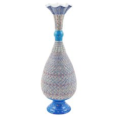 Middle East Signed Minakari Vase - Enamel on Copper