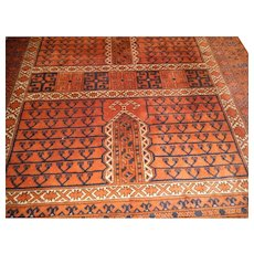 Antique Persian Nomad Camel Wool Carpet, Early 20th century
