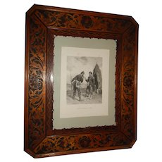 Antique Large and Refined Decorative Wooden Frame