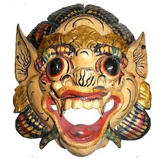 Old Thai Gilt Wooden Mask