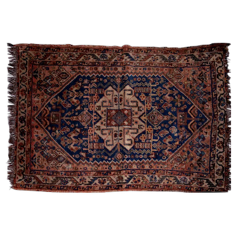 Antique Persian Wool Carpet, 19th Century