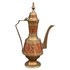 India Enamelled Brass Ewer