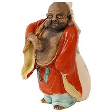 Antique Japanese Meiji Hotei, Laughing Buddha, 19th Century