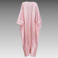 Stunning Lady Pink-White Premium Cotton Arabian Nights Dress