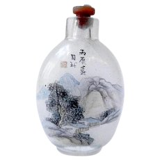 Antique Chinese Reverse Painting Snuff Bottle, 19th Century