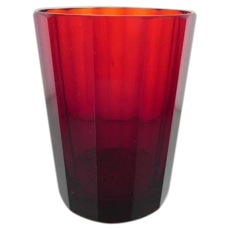 Antique Bohemian Ruby Glass, Early 19th Century