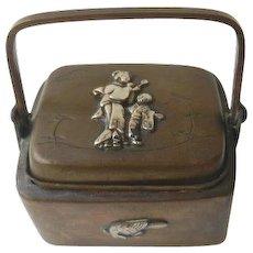 Antique Japanese Miniature Meiji Inkwell